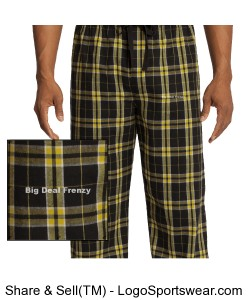 Young Mens Flannel Plaid Pant by District Design Zoom